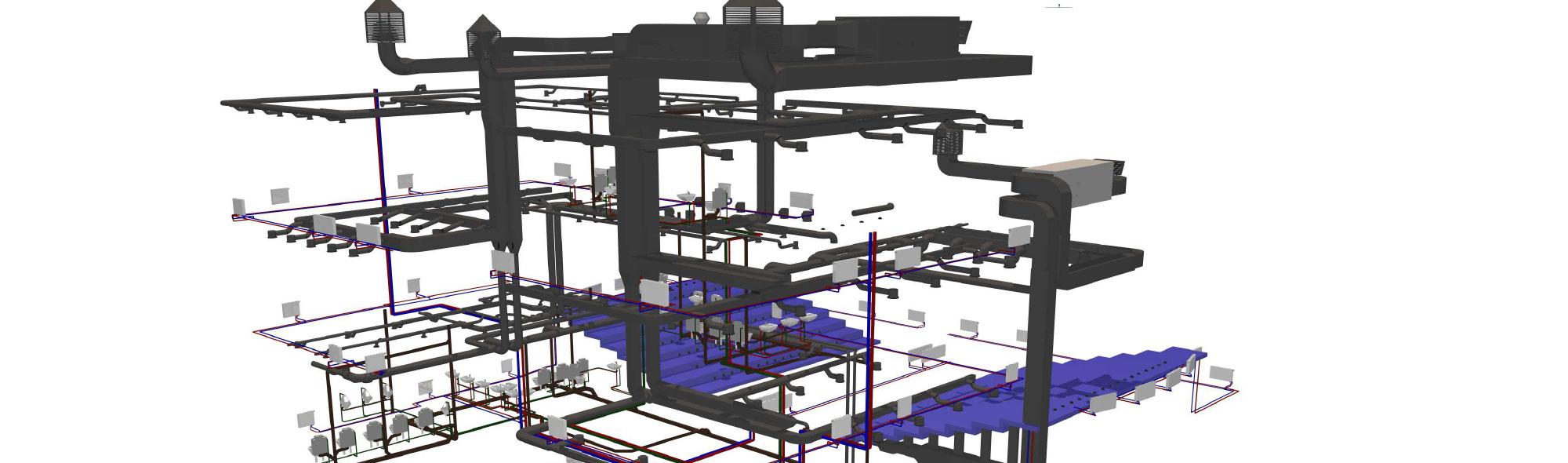 Projektowanie sanitarnych instalacji 3d
